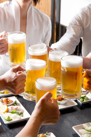 A toast in a pub Stock Photo