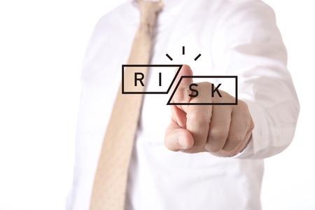 risk aversion concept Foto de archivo