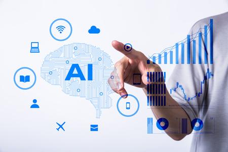 artificial intelligence concept Foto de archivo - 111399157