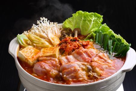 fondue de kimchi Banque d'images