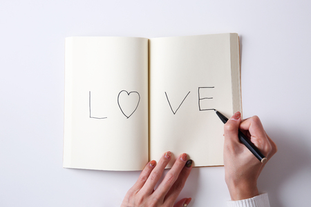Write the word of love