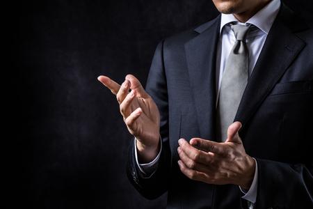 Conferenza di discussione sull'uomo d'affari