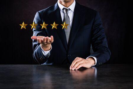 Imagen de calificación de cinco estrellas