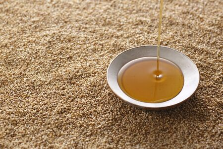 sesame oil with roasted sesame.