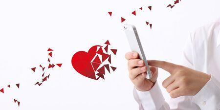 Concept of Broken heart