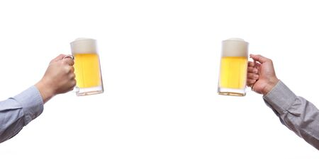 Toast with beer Stock Photo