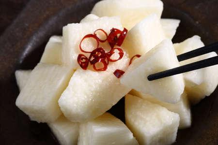 Japanese yam pickles on the table Reklamní fotografie