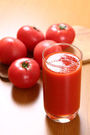 tomato juice on the table