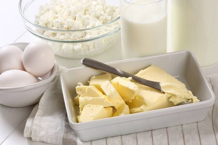 Dairy products and butter