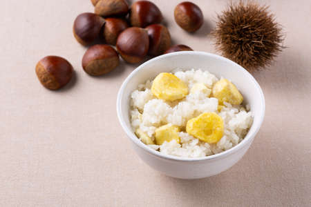 Lots of chestnuts and chestnut rice 版權商用圖片