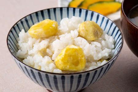 Close-up of chestnut rice