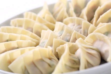 Raw Japanese dumplings