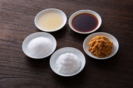 five basic seasonings used in Japanese cooking