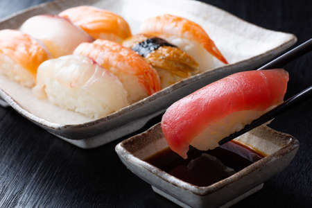 Japanese sushi on the table