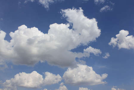 Sky and fluffy cloud Stock Photo