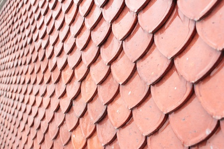 plentifully: Red tile roof.