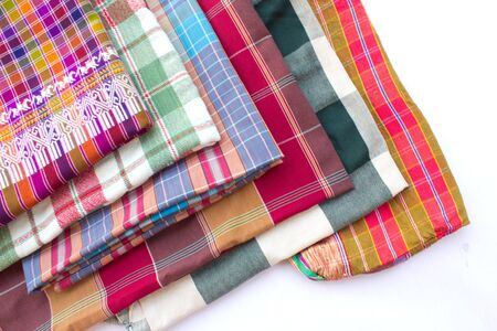 Variety of thailand silk and cotton material.