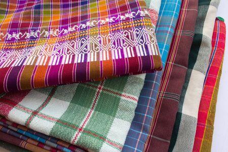 Variety of thailand silk. photo