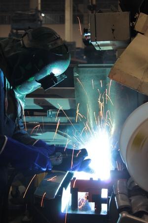 Lassen van staal Stockfoto