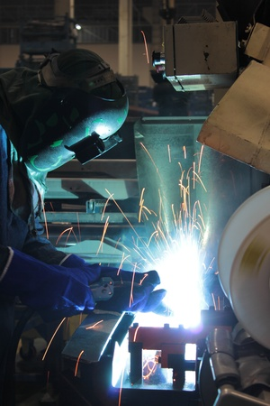Welding steel Banque d'images