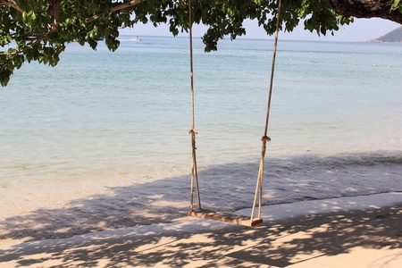 Swing on the coast of Thailand photo
