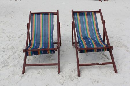 Chairs at the beach in Thailand  Stock Photo - 13406639