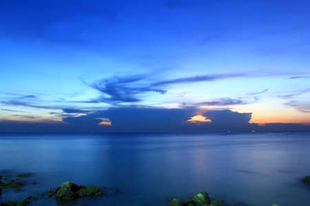 The evening sky Blue in Thailand  Stock Photo - 13684233