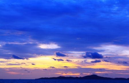Blue sky in the evening in Pattaya, Thailand  Stock Photo - 14062143