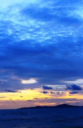 Blue sky in the evening in Pattaya, Thailand Stock Photo - 14062147