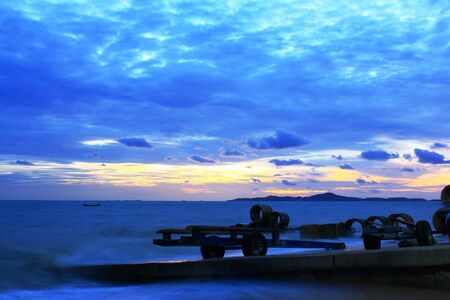 Blue sky in the evening in Pattaya, Thailand  Stock Photo - 14062140