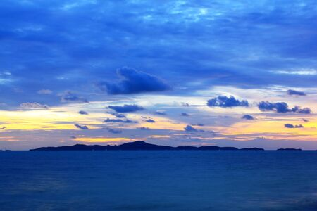 Blue sky in the evening in Pattaya, Thailand Stock Photo - 14062146