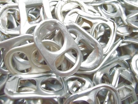 Ear of aluminum cans photo