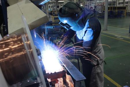 working welder