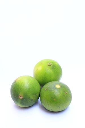 Lemon green white background