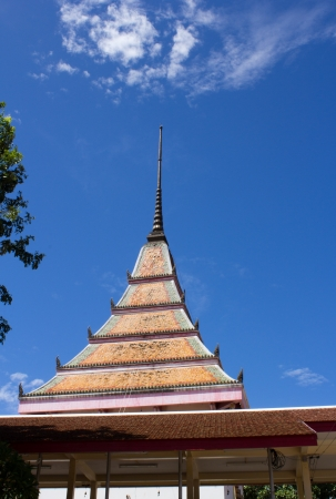 The pagoda temple in Thailand photo