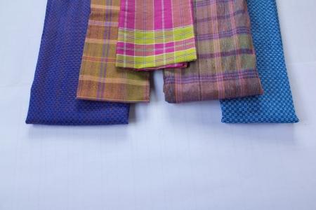 isolate Handmade woven fabrics in thailand