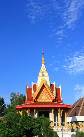 Thai temple and sky in thailand photo