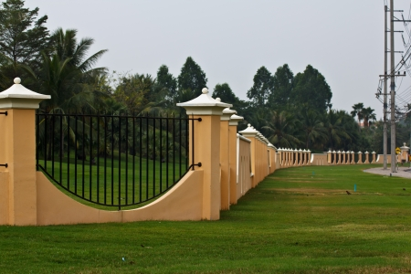 Grass wall fence photo