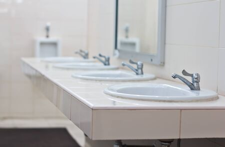 White bathroom Stock Photo - 19414014