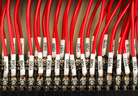 plc: Wiring -- Control panel with wires