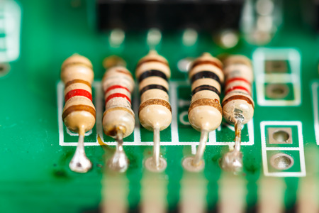 capacitor: Integrated circuits Surface electrical Stock Photo