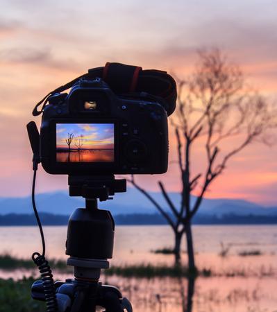 Digitale camera op dag uitzicht. Prachtige kleuren.