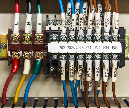 PLCs input wires used in industry. photo