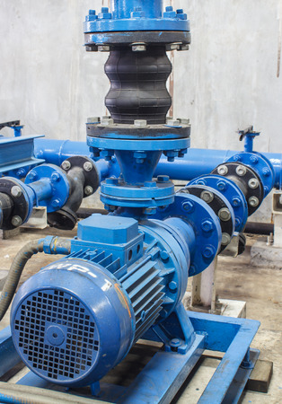 Pipe valve water connection on industry Stock Photo