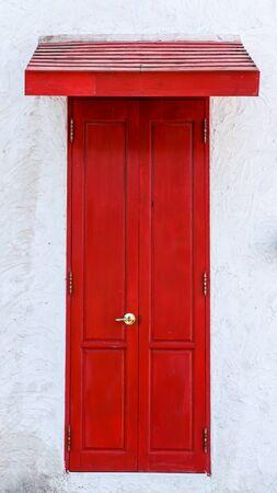 gorgeous red british house door photo