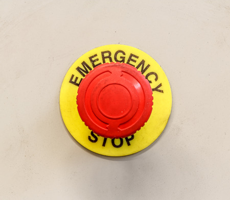 Emergency stop button, Disaster protection Фото со стока - 40147565
