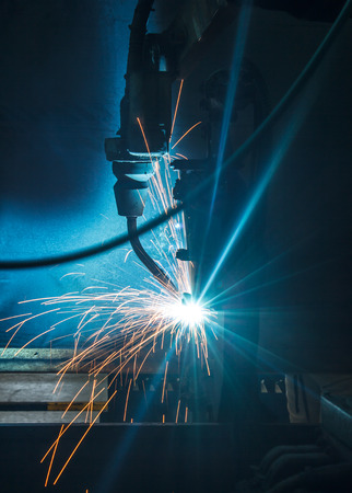 Welding robots for car factories