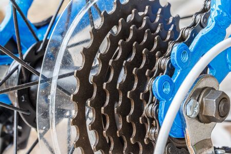 bicycle gear: Bicycle gear road, metal cogwheel