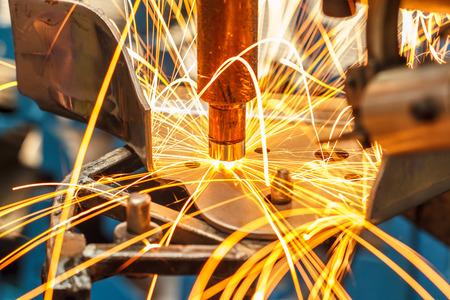 Industriële lassen automotive in thailand Stockfoto