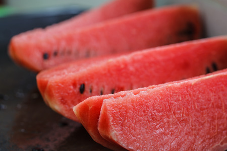 sliced watermelon: Slices of red watermelonWatermelon